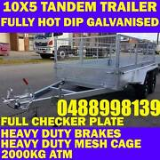 10x5 fully galvanised tandem trailer heavy duty cage 2000kg new Clayton Monash Area Preview