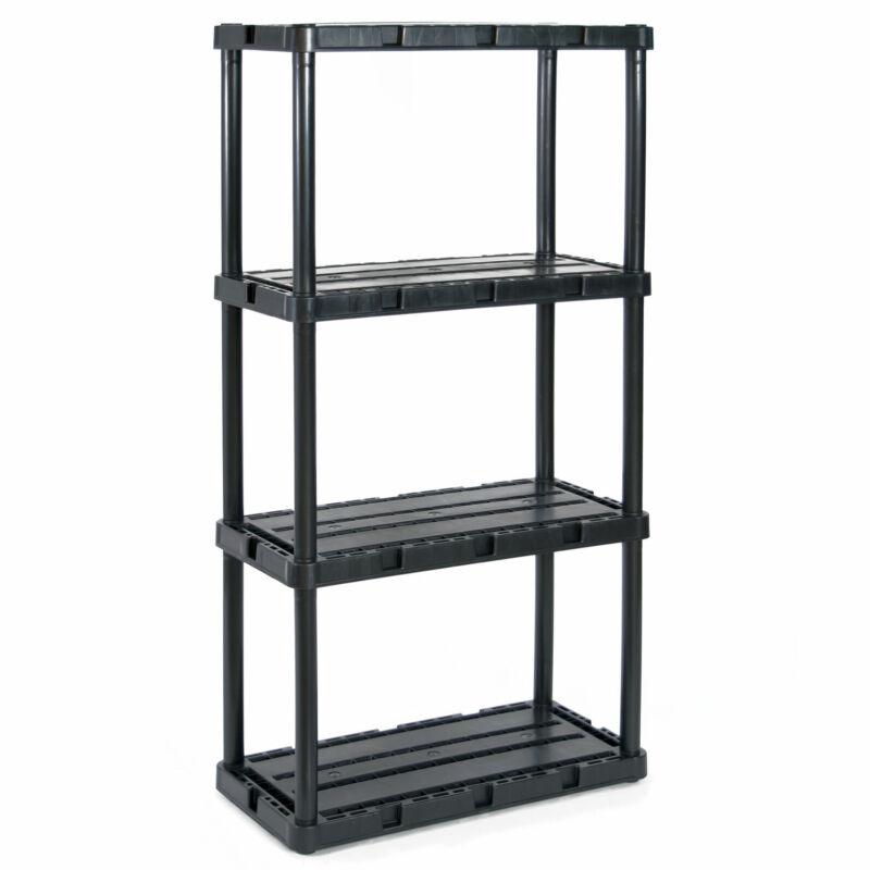 Gracious Living Knect A Shelf Fixed Storage 4 Shelf Shelving Unit (Open Box)