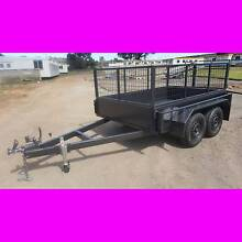 8x5 TANDEM TRAILER WITH CAGE 2000KG 1 PCE FOLD FULL CHECKER PLATE South Windsor Hawkesbury Area Preview