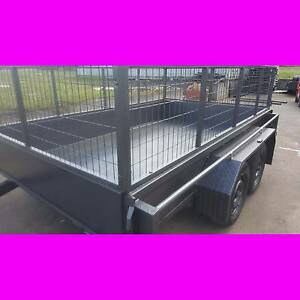 10x6 TANDEM TRAILER WTH CAGE 2000KG 1 PCE FOLD FULL CHECKER PLATE South Windsor Hawkesbury Area Preview