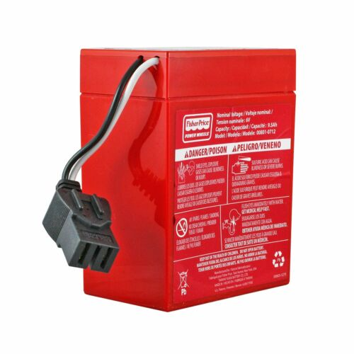 Fisher-Price Power Wheels 6-Volt Rechargeable Red Battery