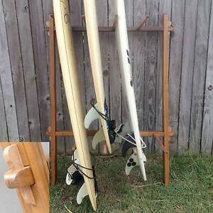 Surfboard Racks Take Apart Portable Timber Surf Wooden storage Burleigh Heads Gold Coast South Preview