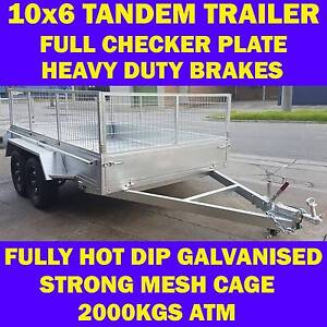 10x6 galvanised trailer tandem trailer with cage heavy duty 2000k Dandenong South Greater Dandenong Preview