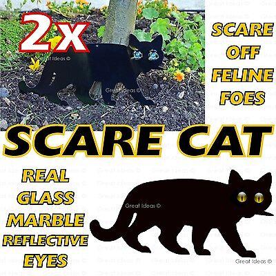 2x SCARE CAT Garden Scarer Stop Pest Control Deterrent Repel Get Rid Scarecrow