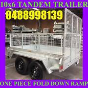 10x6 galvanised tandem trailer with ramp and cage heavy duty new Clayton Monash Area Preview