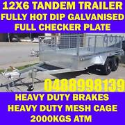 12x6 galvanised tandem trailer with cage heavy duty new 6x12 Clayton Monash Area Preview
