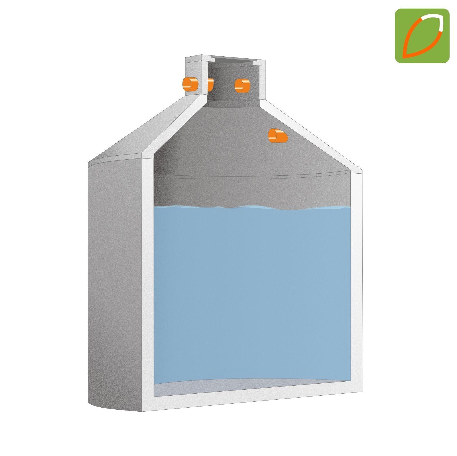 AquaGRANDE Betonzisterne 3.400 - 10.600 l Zisterne Erdtank Regenspeicher Tank