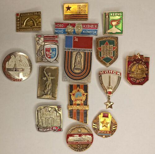 Set 15 Soviet USSR Badge Pin WW2 Great Patriotic War