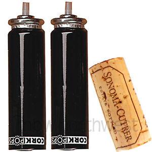 2-TWO-CORK-POPS-CorkPops-WINE-OPENER-CO2-CARTRIDGE-REFILLS-OPENS-50-80-BOTTLES
