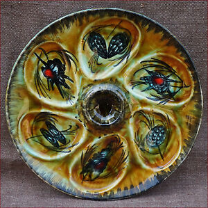Vintage French Quimper Oyster Plate Bastian Le Pemp Hand Painted Faience 1960 - France - French- antic Gallery on eBay Vintage French Quimper Oyster Plate Bastian Le Pemp Hand Painted Faience Hand painted oyster plate made by Bastian Le Pemp in Quimper around 1960. It's shaped with 6 compartments and one central. The hand painted dec - France