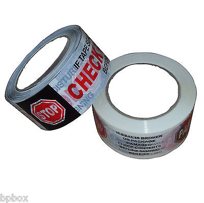 1 Sealing Security Tape Roll Printed 2 X 110 Yd - Check Contents - New