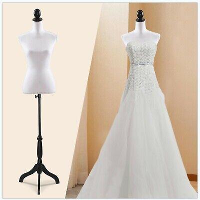 Female Mannequin Torso Dress Clothing Form Display Wblack Tripod Stand New