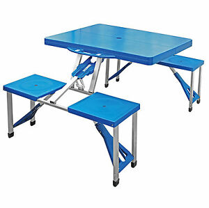 Portable Folding Camping Picnic Table Party Outdoor Garden BBQ Chairs Stools