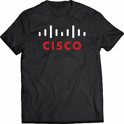 Cisco Systems Network Certification Black T Shirt