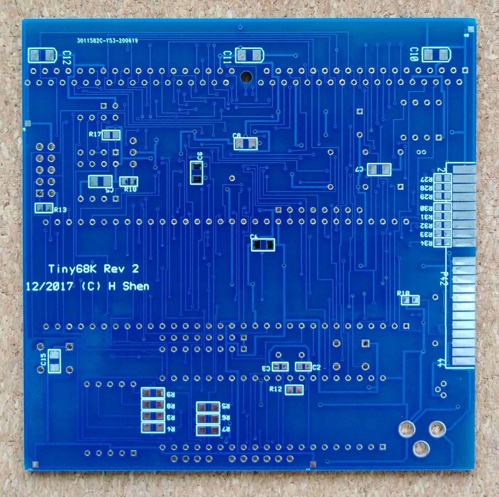 |Tiny68K Tiny 68000 SBC PCB