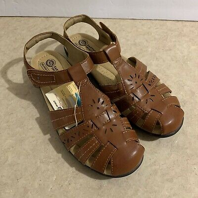 Earth Spirit Womens Shoes Fisherman Sandals New Size 8 Brown