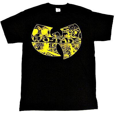 WU TANG CLAN T-shirt Gza Rza ODB Hip Hop Rap Distressed Tee Men  Black New (Hip Hop Tee T-shirt)