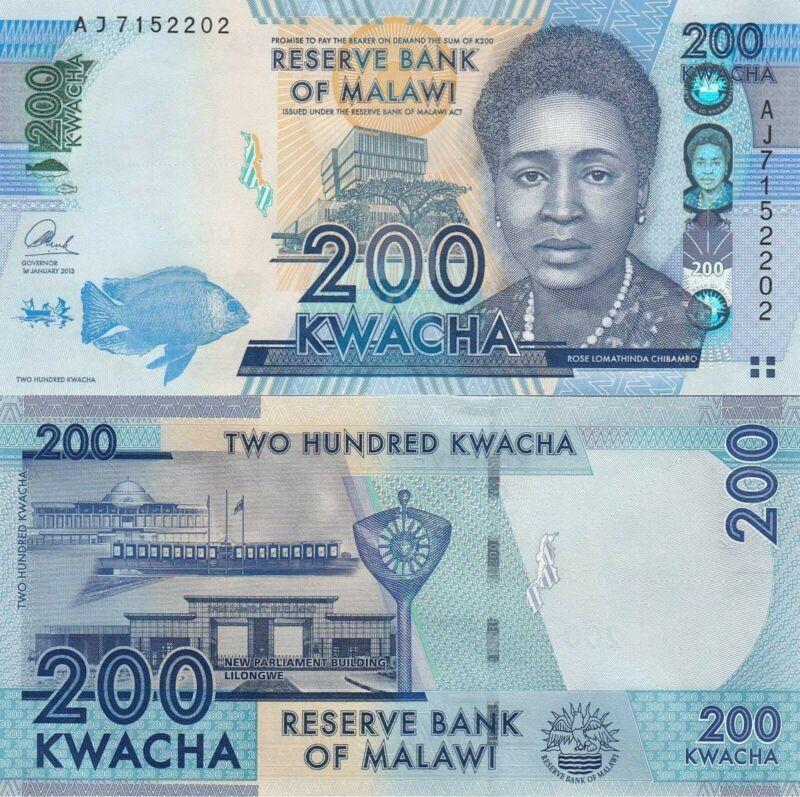 Malawi 200 Kwacha (1.1.2013) - p60b UNC