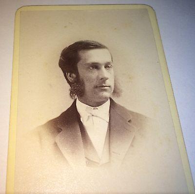Antique Victorian American Gentleman Mutton Chop Sideburns Brooklyn NY CDV Photo - Mutton Chop Sideburns