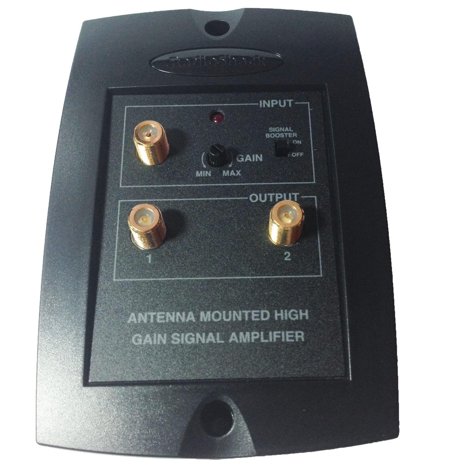 Tv Signal Amplifier : Radioshack db rf uhf vhf fm tv antenna mast mountable