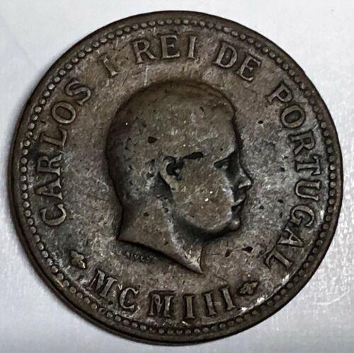 # C9497     PORTUGUESE INDIA    COIN,    1/2 TANGA    1903