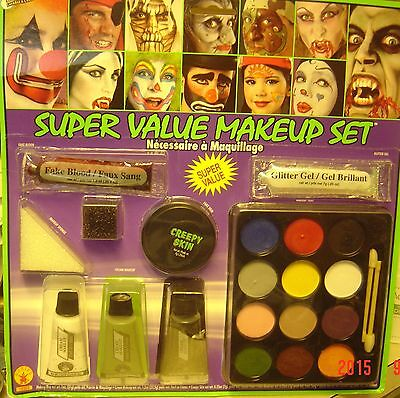 Super Value Family Costume Halloween Party Stage Play Makeup Make Up Kit New - Up Family Halloween Costume