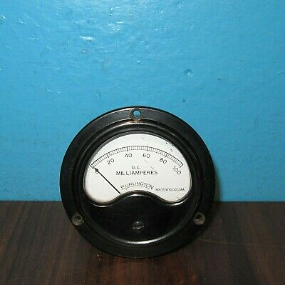 Burlington Panel Meter 0-100ma Dc Milliamperes 3.5