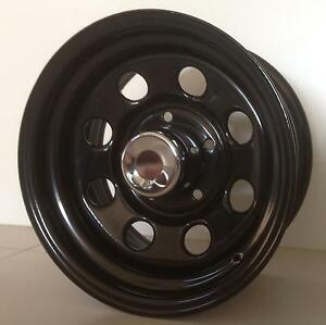 "16"" X 8"" STEEL BLACK WHEELS RIMS Toyota Nissan patrol land cruiser gu North Geelong Geelong City Preview"