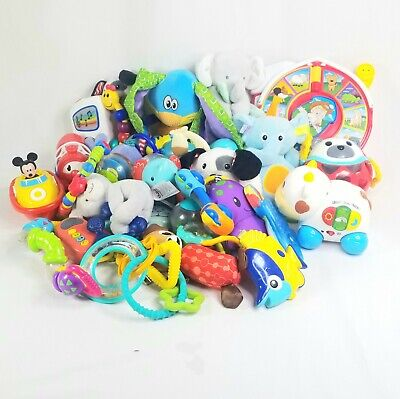 Baby/Toddler Large Lot of 31 Mixed Brand Sensory Toys Infantino Vtech