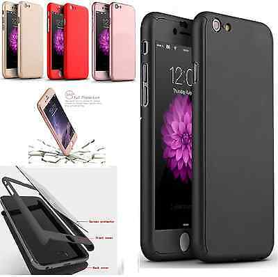For Apple iPhone 6 6s / 6 Plus Case Ultra Thin Slim Hard Cover+ Tempered Glass