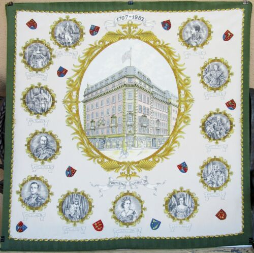 """Fortnum & Mason Silk Scarf Kings and Queens 1707 - 1982 - 275 Years - 30"""" x 30"""""""