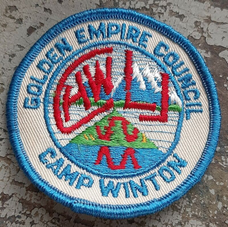 Vintage BSA Golden Empire Council Camp Winton patch, Scouts of America
