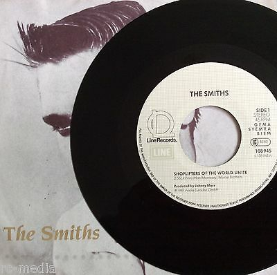 The Smiths  Shoplifters German Black Vinyl 7   Picture Sleeve Very Rare  Record