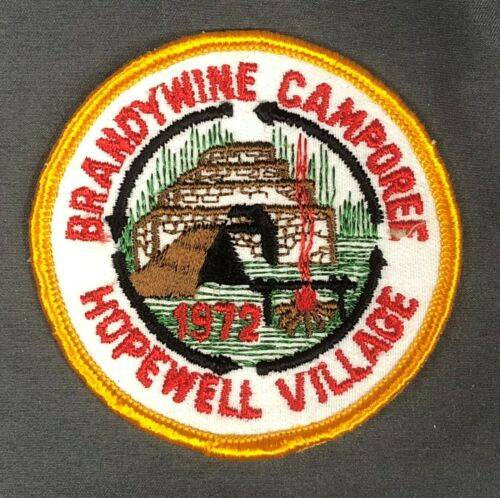1972 Brandywine Camporee Hopewell Village Patch BSA Boy Scouts of America