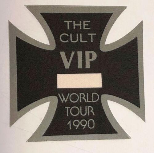 THE CULT 1990 World Tour Cloth Die-Cut VIP Pass
