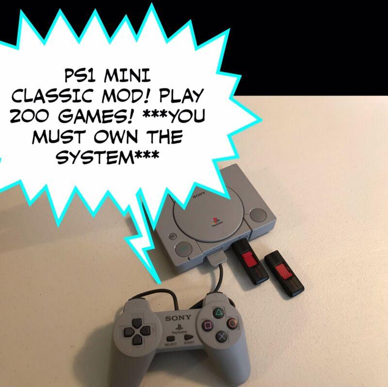 PS1 Classic Mod - USB Drives - Plug N Play - 200 Games! - PlayStation - Read!