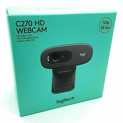 Logitech C270 HD-Webcam - Schwarz
