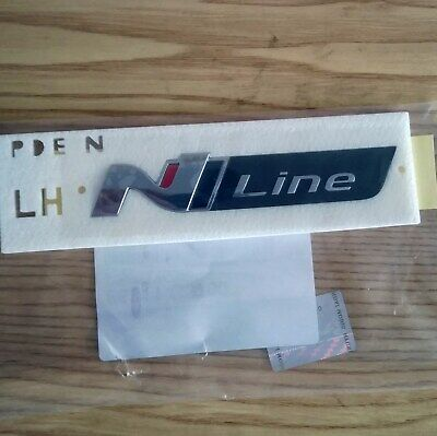 "Hyundai i30 Nline  2018- Trunk /Side Lettering Nameplate  Emblem badge "" N Line"""