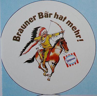 Aufkleber Langnese BRAUNER BÄR  Eis 80er Jahre Sticker