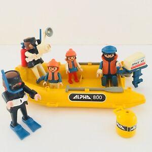 Rare Vintage Playmobil Set 3479 - Scuba Divers and Yellow Raft