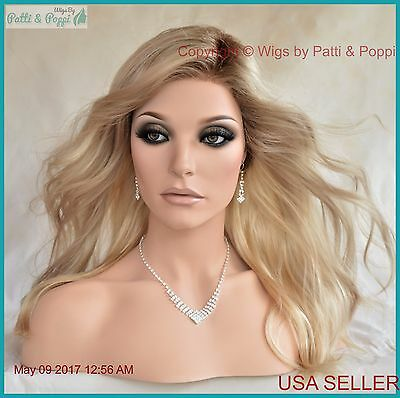 Arrow Ellen Wille Synthetic Wigs Lace Front Hand Tied Monopart Champagne Rooted