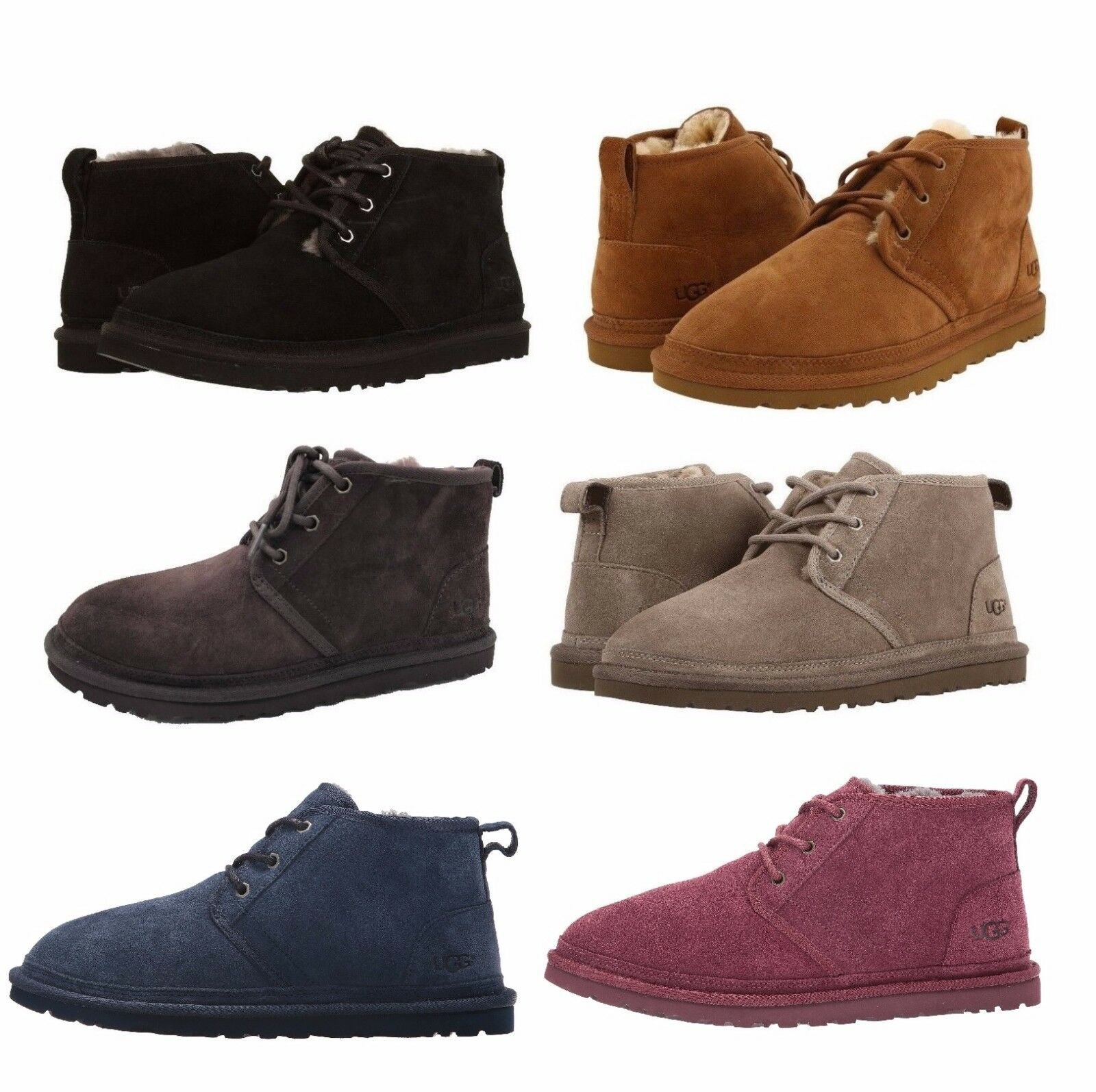 UGG Men's Neumel Chukka  Boots Casual Fashion Shoes Suede Black Chestnut 3236