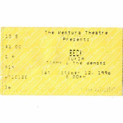 BECK & SUKIA Concert Ticket Stub VENTURA CALIFORNIA 10/12/96 ODELAY TOUR