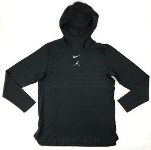 Nike Alabama Crimson Tide Alpha Fly Rush Pullover Hoodie Jacket Men's L Black