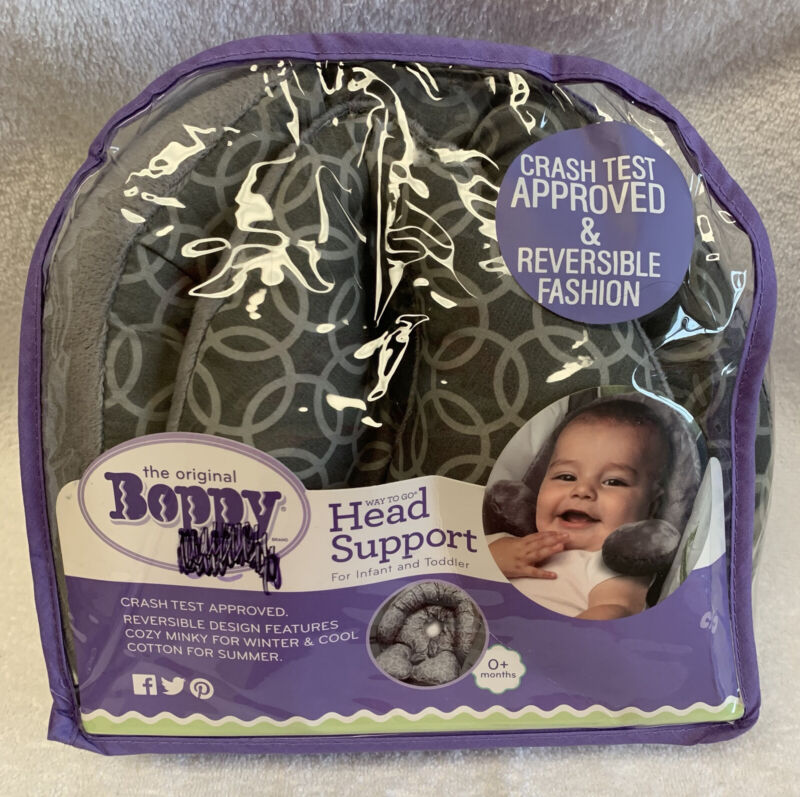 BOPPY infant Head/Neck SUPPORT 0+mo removable Pillow REVERSE cotton/plush baby