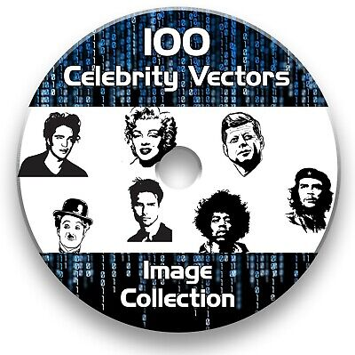 100 Celebrity Vector Images Collection Eps Files Clipart Vinyl Plotter Cutter