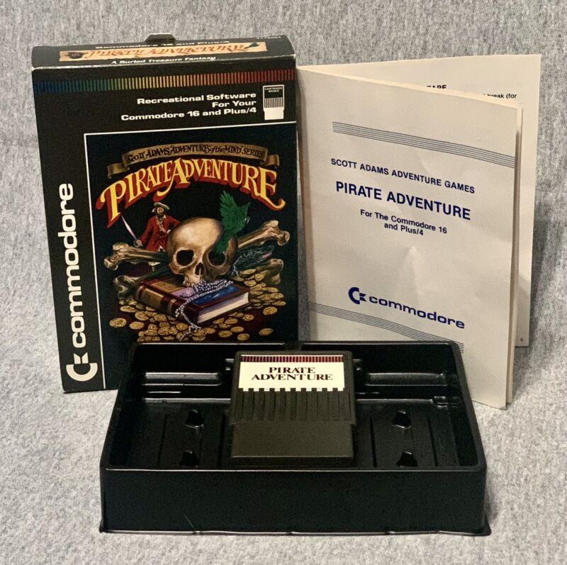 Pirate Adventure (Commodore Plus 4/16, 1984) | Complete in Box Game VERY GOOD