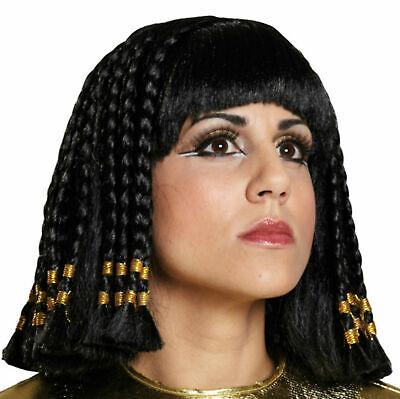 Cleopatra Perücke Ägypterin Göttin Indianerin Orient schwarz Fasching Karneval