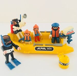 Playmobil set 3479 Inflatable boat and scuba diving family
