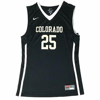 New Nike Colorado Buffaloes Hyper Elite Basketball Jersey Men's L Black 626671